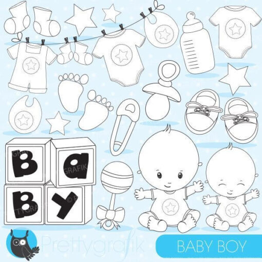 Baby boy stamps