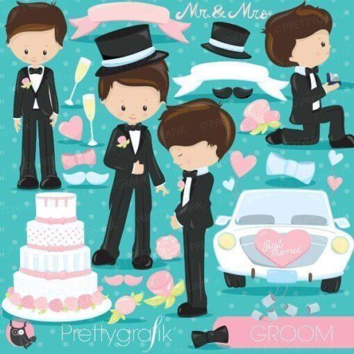 wedding groom clipart