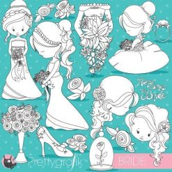 Wedding bride stamps