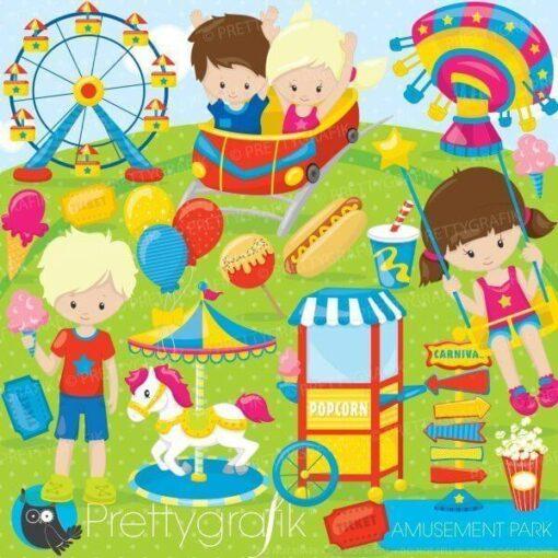 Amusement park clipart