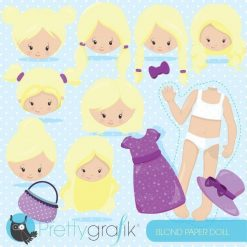Blonde paper doll clipart
