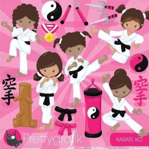 Karate kid clipart
