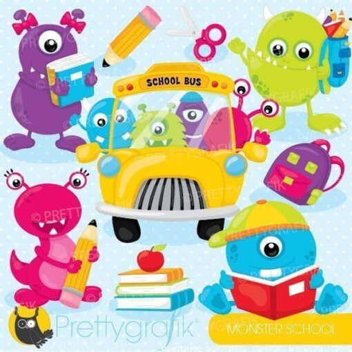 School monsters clipart