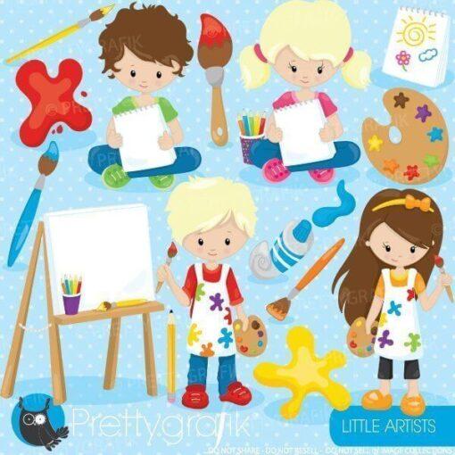 Little artists clipart