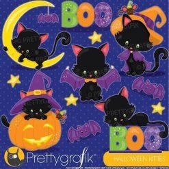 Halloween cat clipart