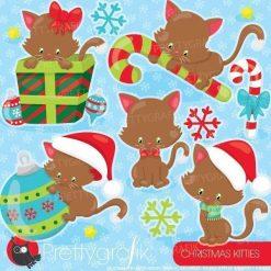 Christmas cat clipart
