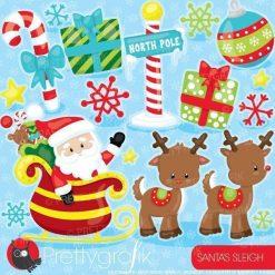 Santa's sleigh clipart