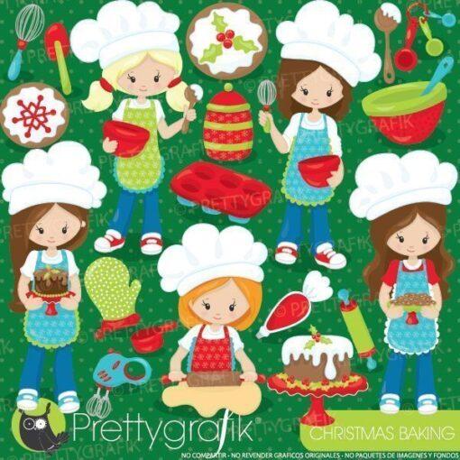 Christmas baking clipart