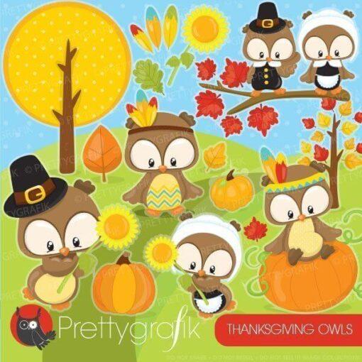 Thanksgiving owl clipart