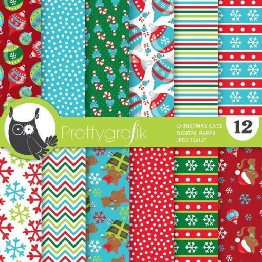 Christmas cat papers