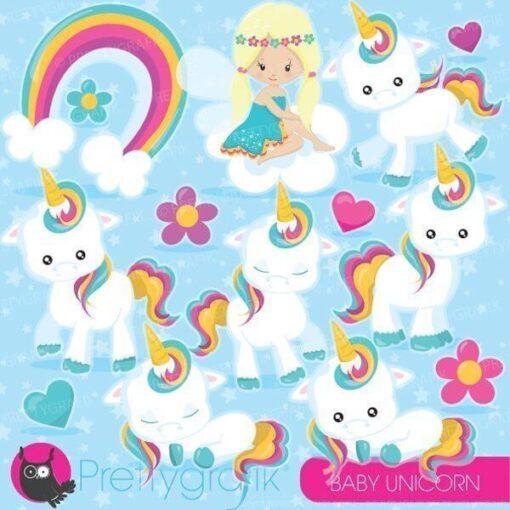 Baby unicorn clipart