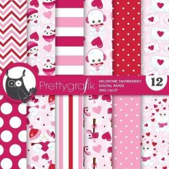 Valentine snowman papers