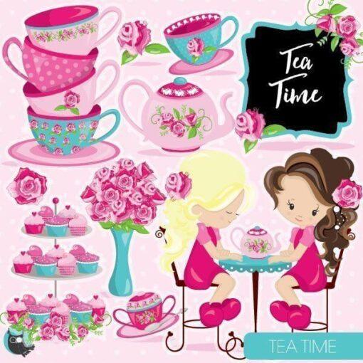 Tea time clipart