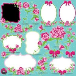 Floral frames clipart