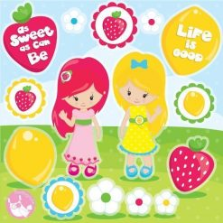 Strawberry girl clipart