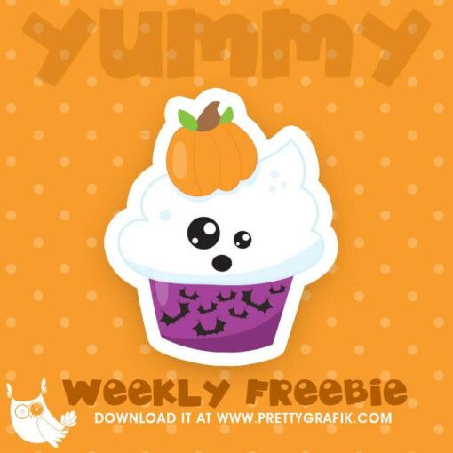 Halloween Cupcake Freebie