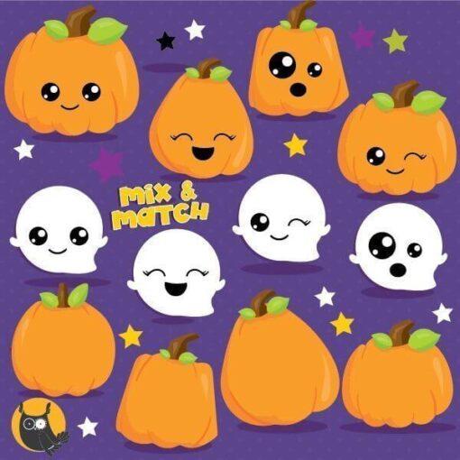 Kawaii pumpkin clipart