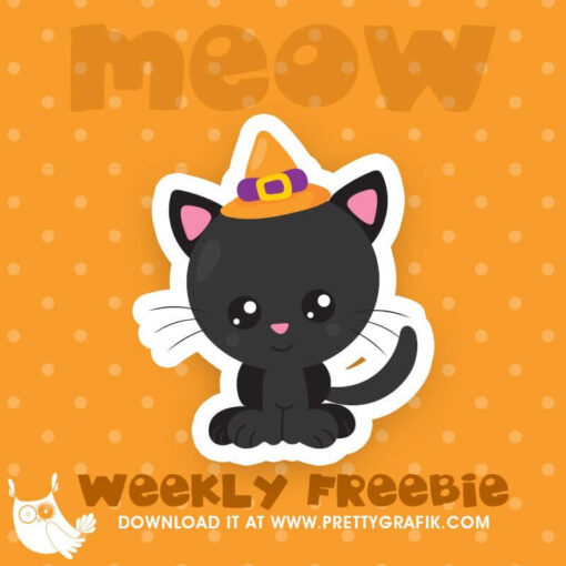 Halloween cat Freebie