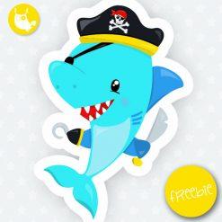 Pirate shark Freebie