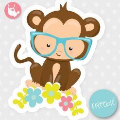 Spring monkey Freebie