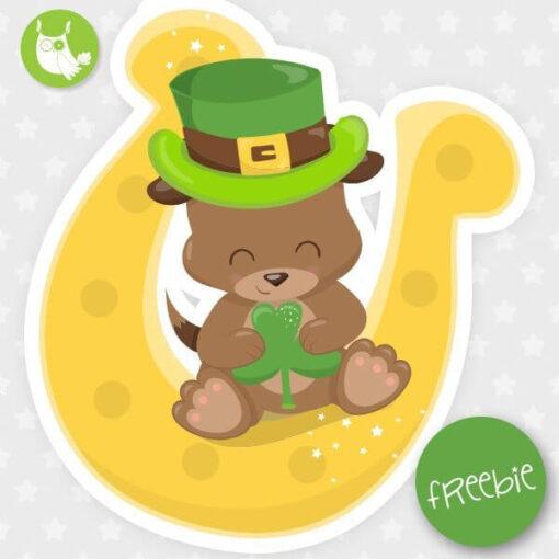 St-Patrick puppy Freebie