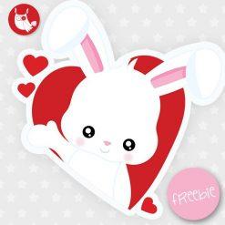 Valentine bunny Freebie