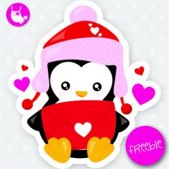 Valentine penguin Freebie
