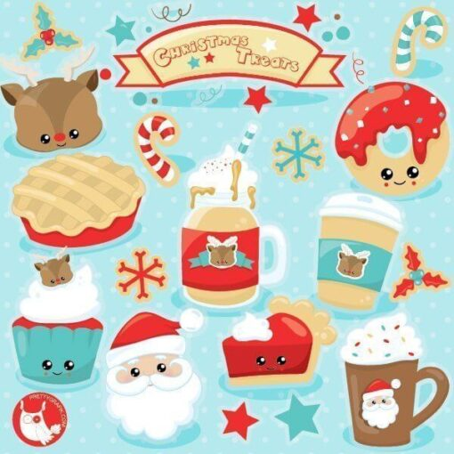 Christmas treats clipart