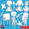 Little artists stamps