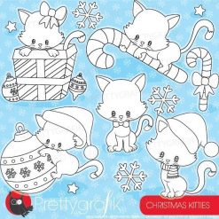 Christmas cat stamps