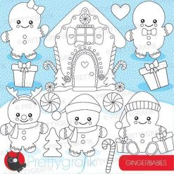 Gingerbread baby stamps