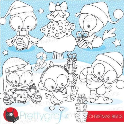 Christmas bird stamps