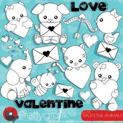 Valentine animal stamps