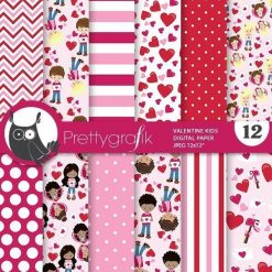 Valentine kids papers