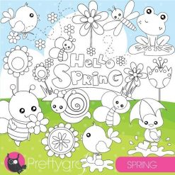 Spring animals stamps