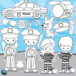 Police officer stamps