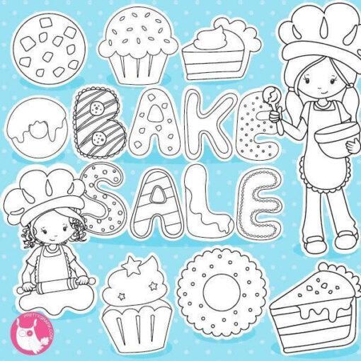 Bake sale stamps