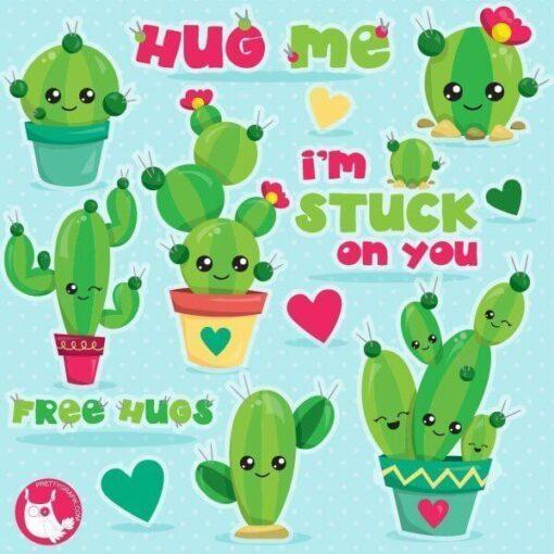 Cactus love clipart