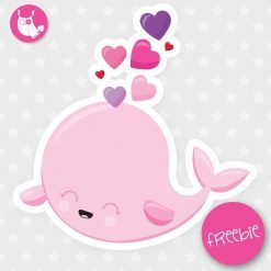 Valentine Whale Freebie