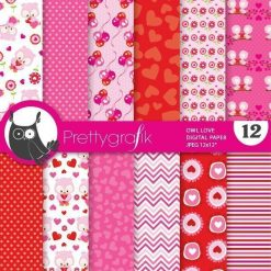 Owl valentine papers