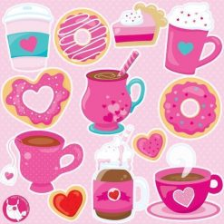 Valentine coffee clipart