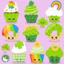 St-Patrick's cupcakes clipart