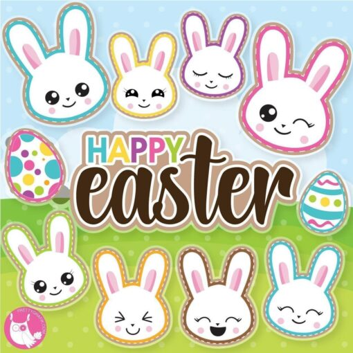 Easter moji's clipart
