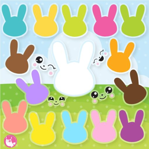 Bunny silhouette clipart