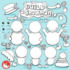 Build snowman stamps