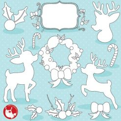 Christmas silhouette stamps