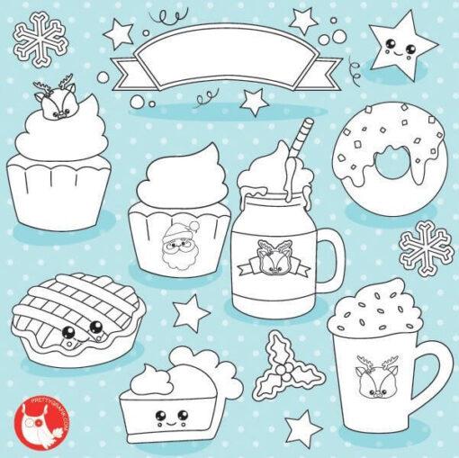 Christmas treats stamps