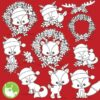 Christmas animals stamps