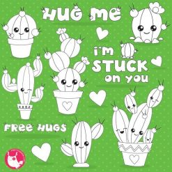 Cactus love stamps