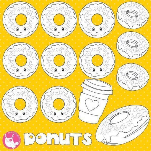 Donuts stamps